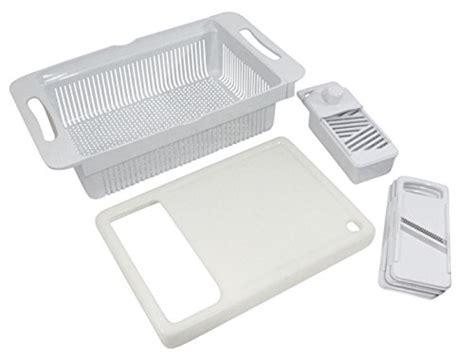tci large over sink colander cutting board slicer new ebay