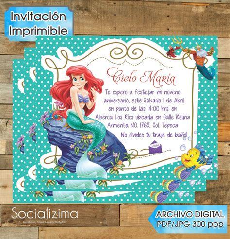 pin invitaciones de la sirenita on app co