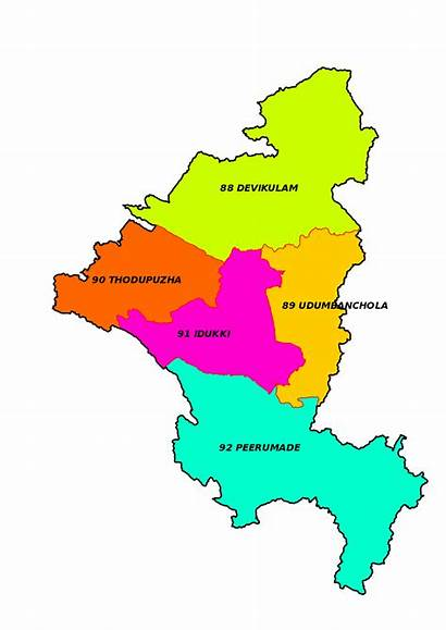 Map Kerala Idukki District Wise Constituency Election