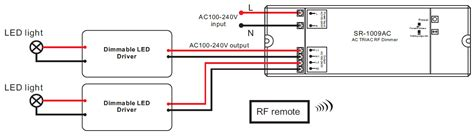 wiring diagram for dimmable led driver 2 channel ac triac led dimmer switch with rf sr 1009ac