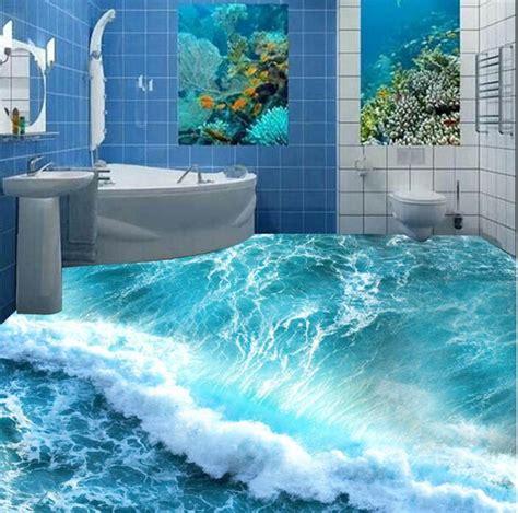 shipping  custom wall sticker ocean blue wave