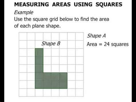 3rd grade measuring area using squares youtube