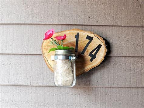 house number sign   wood slice diycandycom