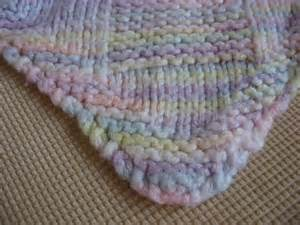 Diagonal Knit Basketweave Baby Blanket Pattern