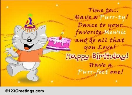 purr fect birthday  pets ecards greeting cards