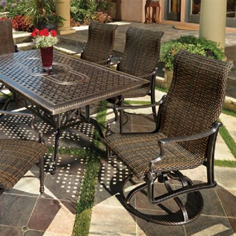 gensun outdoor patio furniture bel air woven collection by gensun family leisure