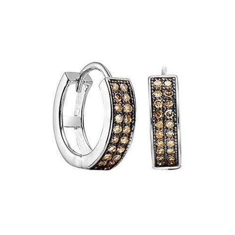 Sterling Silver .20cttw Double Row Chocolate Brown Diamond