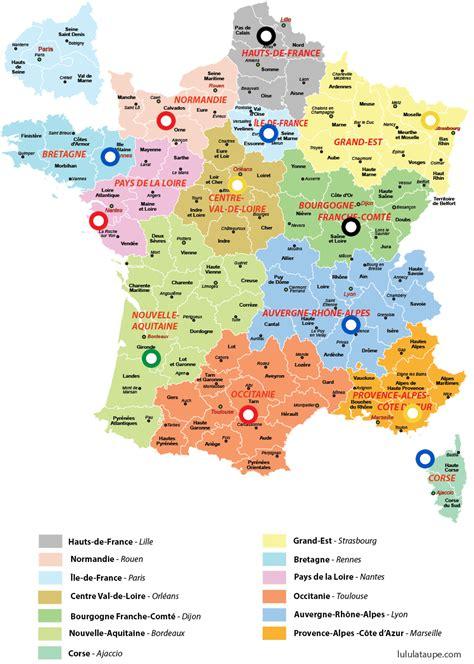 La france des 13 regions. Carte des nouvelles grandes régions de France avec des ...