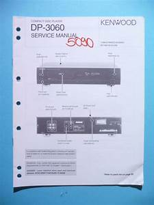 Service Manual Instructions For Kenwood Dp