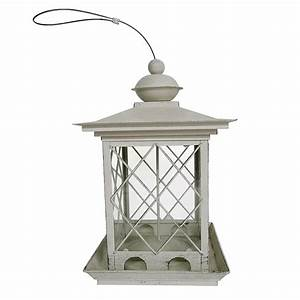 Shop garden treasures metal hopper bird feeder at lowescom for Kitchen cabinets lowes with outdoor metal bird wall art