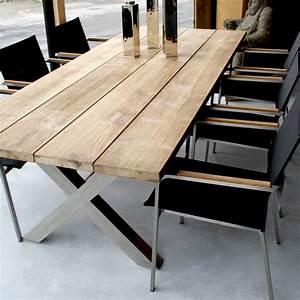 Table de jardin bois et metal table de jardin bois et metal Maison email