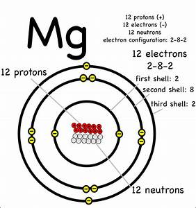 Labeled Diagram Of Magnesium Atom