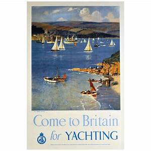 Original Vintage Sailing Poster QuotCome To Britain For