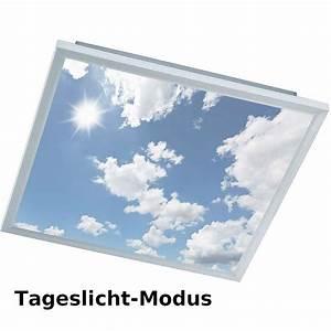 Led Panel Himmel : led deckenbeleuchtung mit motivbild himmel ~ Orissabook.com Haus und Dekorationen