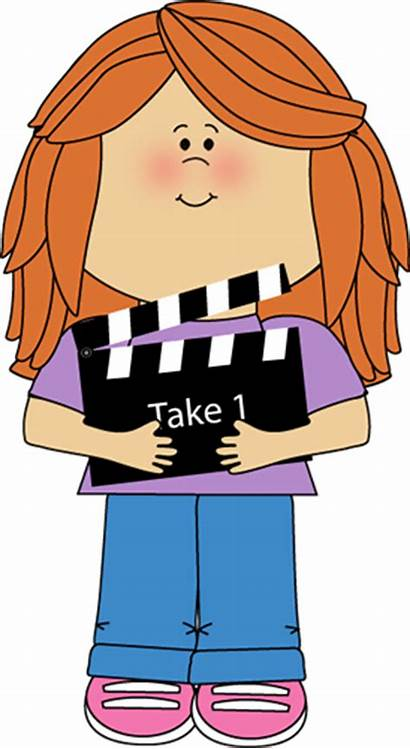 Clipart Clapperboard Clip Clapper Theater Director Actor
