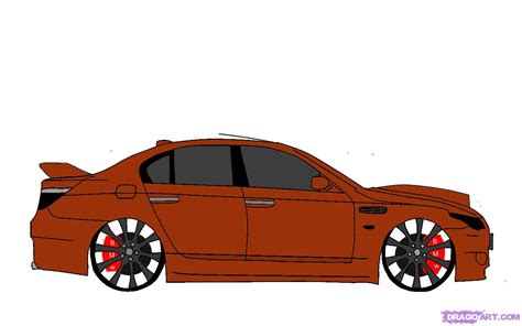 How To Draw A Bmw, Step By Step, Cars, Draw Cars Online