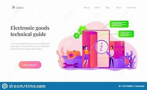User Guide Landing Page Template  Stock Vector