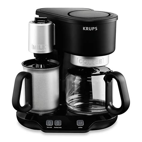 They also include milk frothers, adding that luxurious coffee shop finish to your drinks. Krups® KM3108 Latteccino Coffee Maker with Milk Frother | Bed Bath & Beyond
