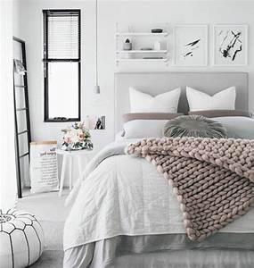 Parure De Lit Cocooning : 1001 conseils et id es pour une chambre en rose et gris sublime chambre coucher pinterest ~ Teatrodelosmanantiales.com Idées de Décoration
