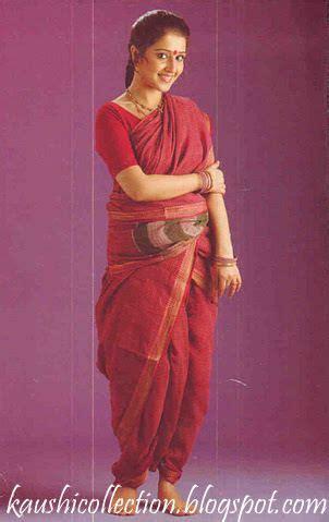 Traditional Saree Draping Styles - maratha nauvari style drape maharashtra india textiles
