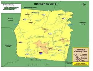 Dickson County TN Map