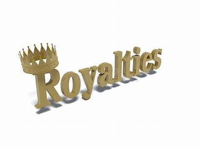 Word Royalties Crown Letters Gold Illustration Wearing
