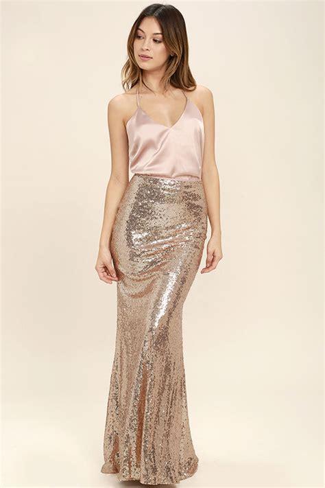Lovely Gold Skirt - Sequin Skirt - Maxi Skirt - $74.00