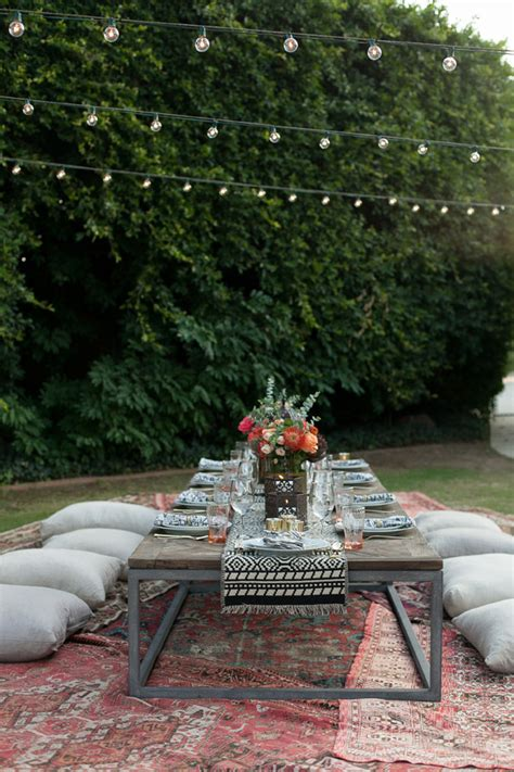 girls night outdoors moroccan party rose tasting