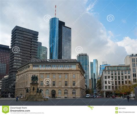 frankfurt city view royalty stock image