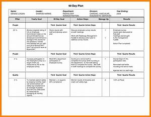 8+ 90 day work plan time table chart
