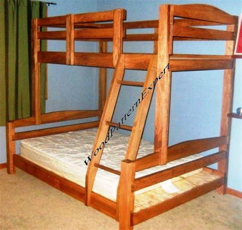 bunk bed paper patterns build king  queen  full  twin easy diy plans  ebay
