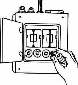 Fuse box clip art free vector 4vector for Old fuse box