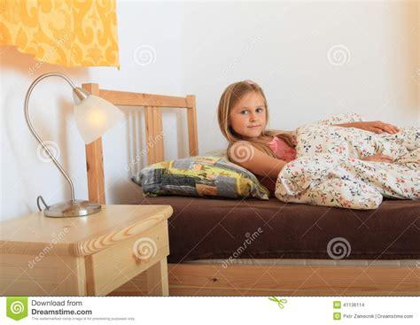 Girl Going To Sleep Stock Photo Image Of Sleepy Lighting