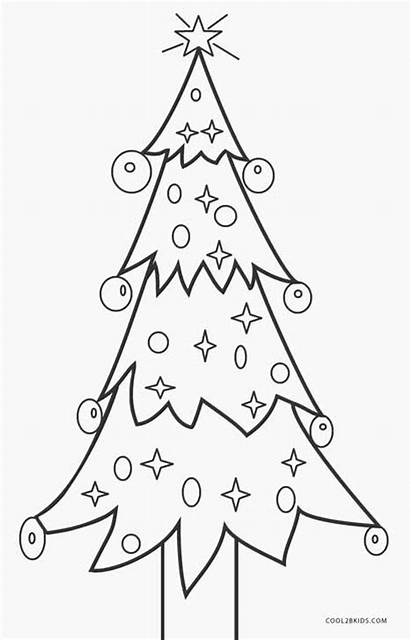 Coloring Christmas Pages Tree Printable Trees Presents