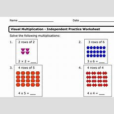 Visual Arrays And Multiplication Worksheet Educational