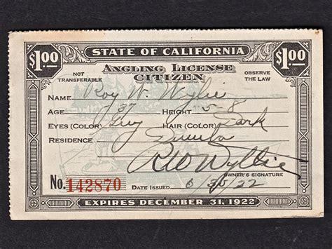 fishing california licenses 1922 scene