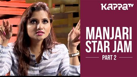 manjari playback singer star jam part  kappa tv