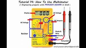 How To Use Multimeter   Tutorial 14