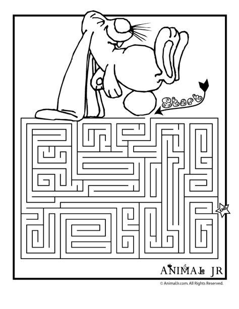 Spring Worksheets Printable Spring Maze  Bunny  Classroom Jr  Perceptual  Pinterest Maze