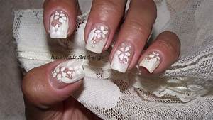 nail design manicure lace white on