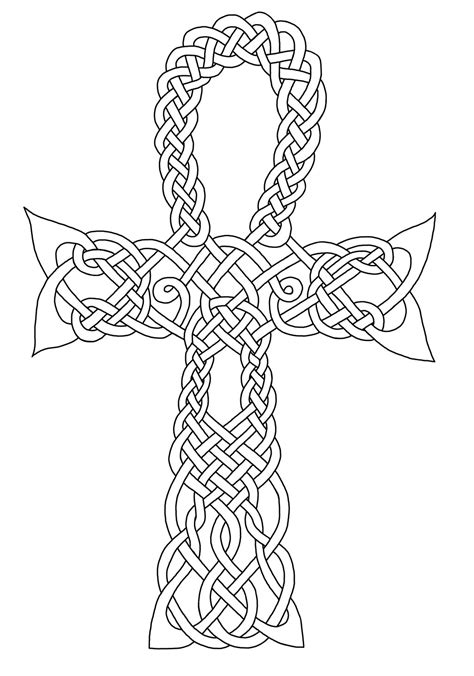 Celtic Knot Coloring Pages Getcoloringpagescom