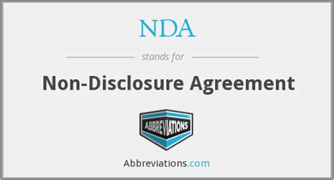 nda  disclosure agreement