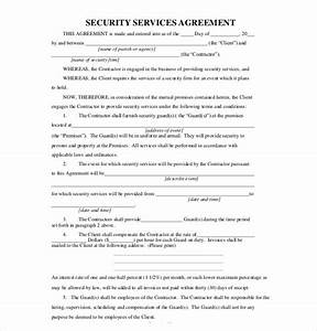 20 service agreement template free sample example With security company contract template