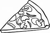 Pizza Coloring Slice Printable Pepperoni Sheets Colorir Pieczarkami Kolorowanka Hamburger Number Clipart Coloriage Frites Cheese Bread Desenhos U2013 Birthday Wecoloringpage sketch template