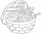 Sewing Embroidery Basket Quilter Patterns Quilt Qisforquilter Tools Baskets Redwork Wonderful Many Coloring Drawings Line Needlework Website Accessible Reprints Hundreds sketch template