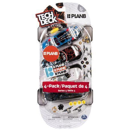 Tech Deck Rs At Walmart by Tech Deck 96mm Fingerboards 4 Pack Plan B Walmart