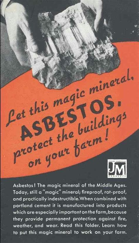 asbestos  magic mineral vintage ads vintage