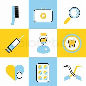 Dental vector icons set. Dentist clinic icons logo. Vector ...