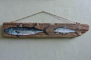 Peinture Effet Bois Flotté : maquereau et sardine photo de 11 peintures sur bois ~ Dailycaller-alerts.com Idées de Décoration