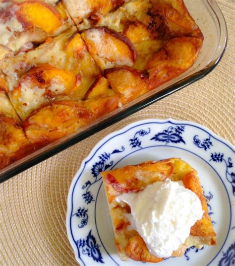Fresh Peach Overnight French Toast Eat Drink Smile